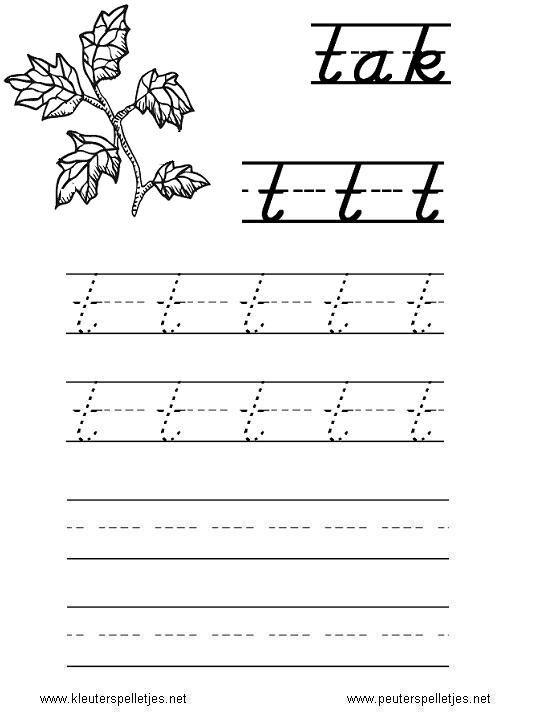 Cijfers 1 T M 10 Kleurplaat Letter T Letters Leren Herkennen En Schrijven Alfabet