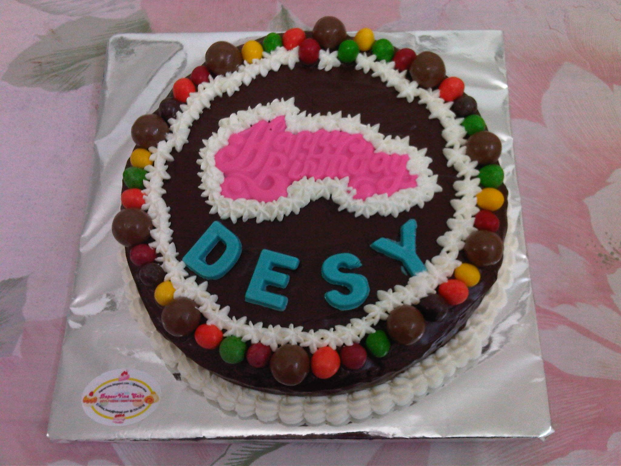 Birthday Cake For Desy Base Cake Steamed Brownies Http