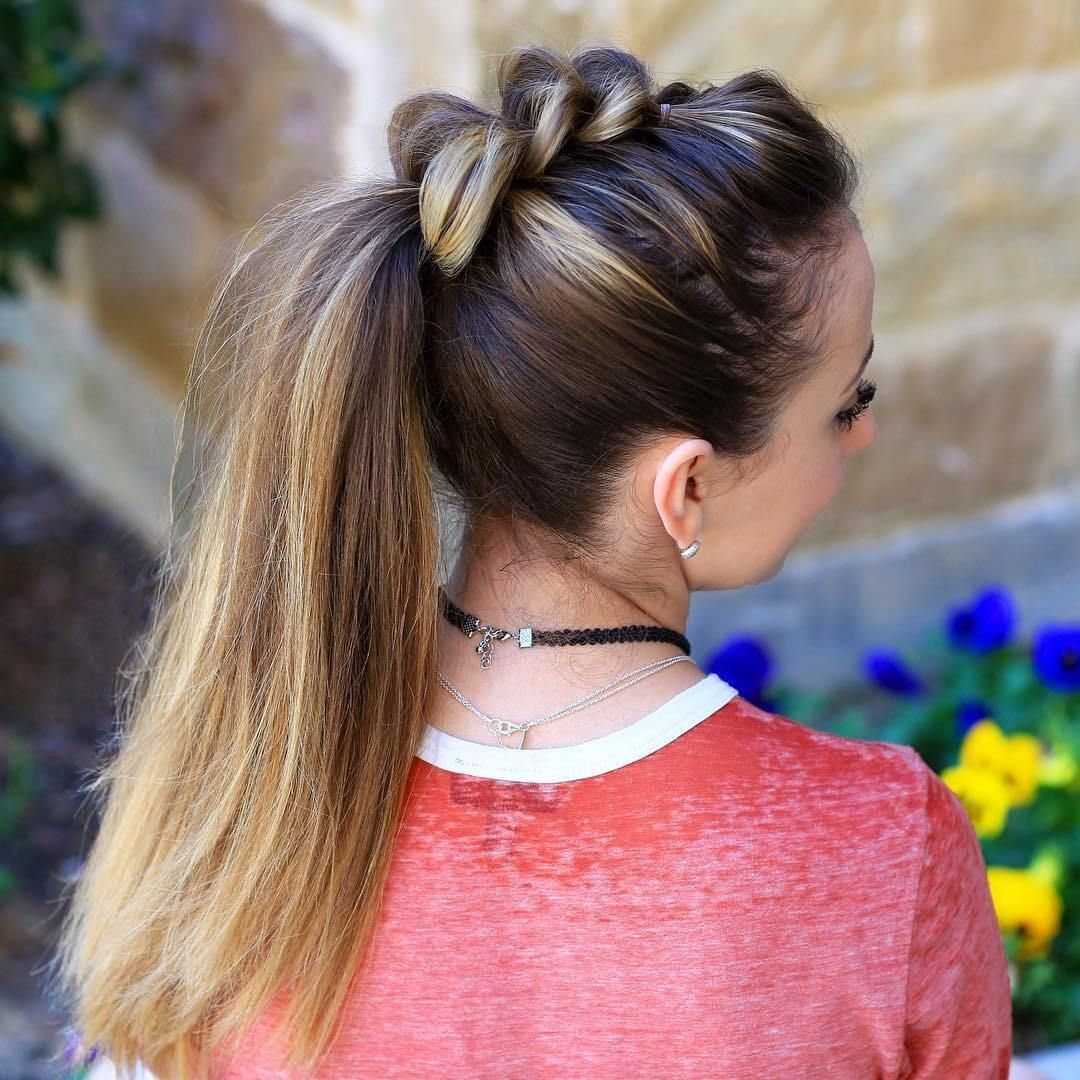 ways to pull off a pull through braid mohawks ponytail and