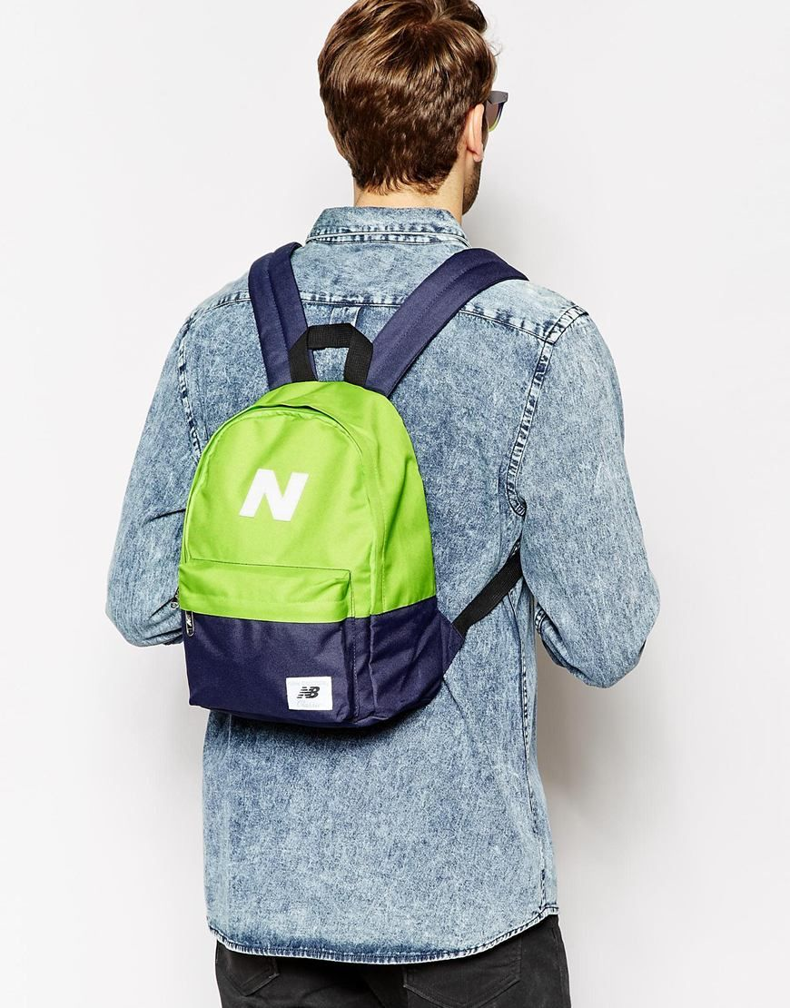 8fe8a684965c New Balance Mini Mellow Backpack - Lime Navy