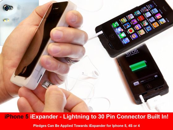 The iExpander Expands the iPhone's Memory, Camera and Battery Life. Expandable SD Memory, Great Low Light Images & 2X Battery Life!