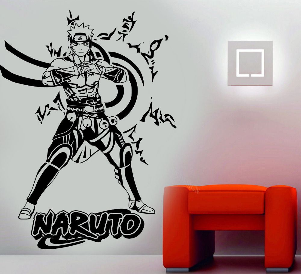 3d poster Naruto Wall Art Decal High Quality Vinyl Wall Stickers ... for 3d Wall Graphic Design  111bof
