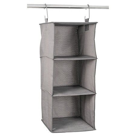 Target Clothes Hangers Prepossessing 3Shelf Hanging Closet Organizer Gray Birch  Threshold™  Target Design Ideas
