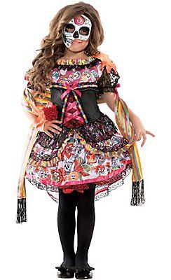 Girls Exuberante Day of the Dead Costume | Halloween Costumes ...