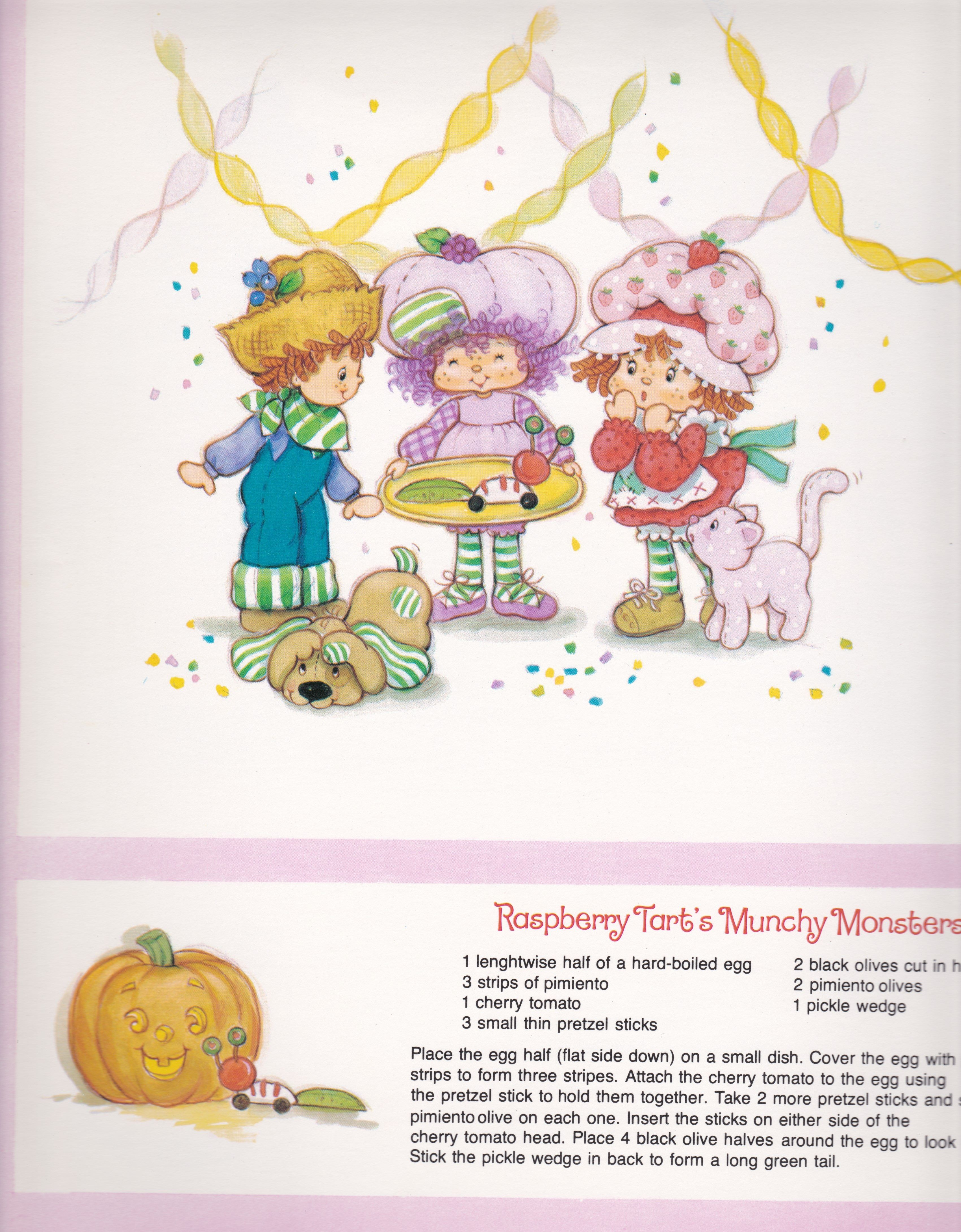 Vintage Strawberry Shortcake 1983 Sweet Treats Calendar October