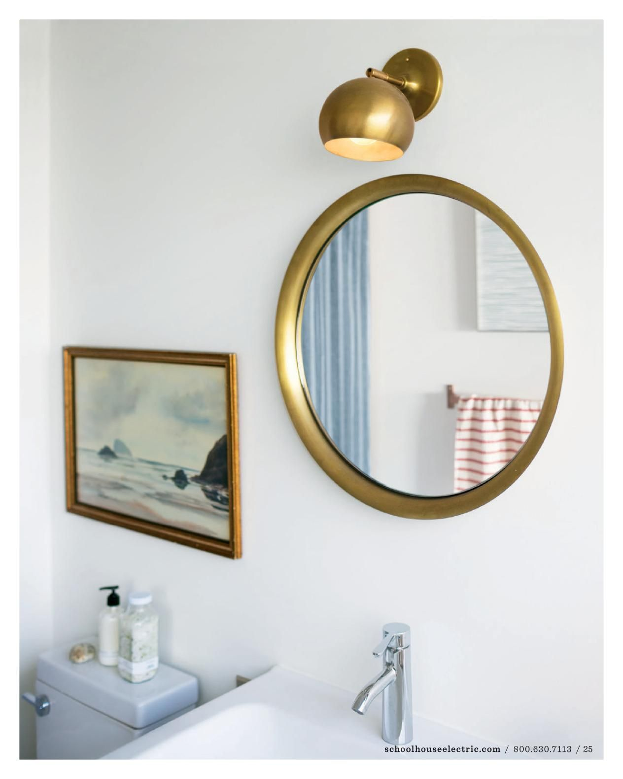 Bathroom Wall Lights Above Mirror Single Sconce Above Mirror Bath Schoolhouse Electric Small