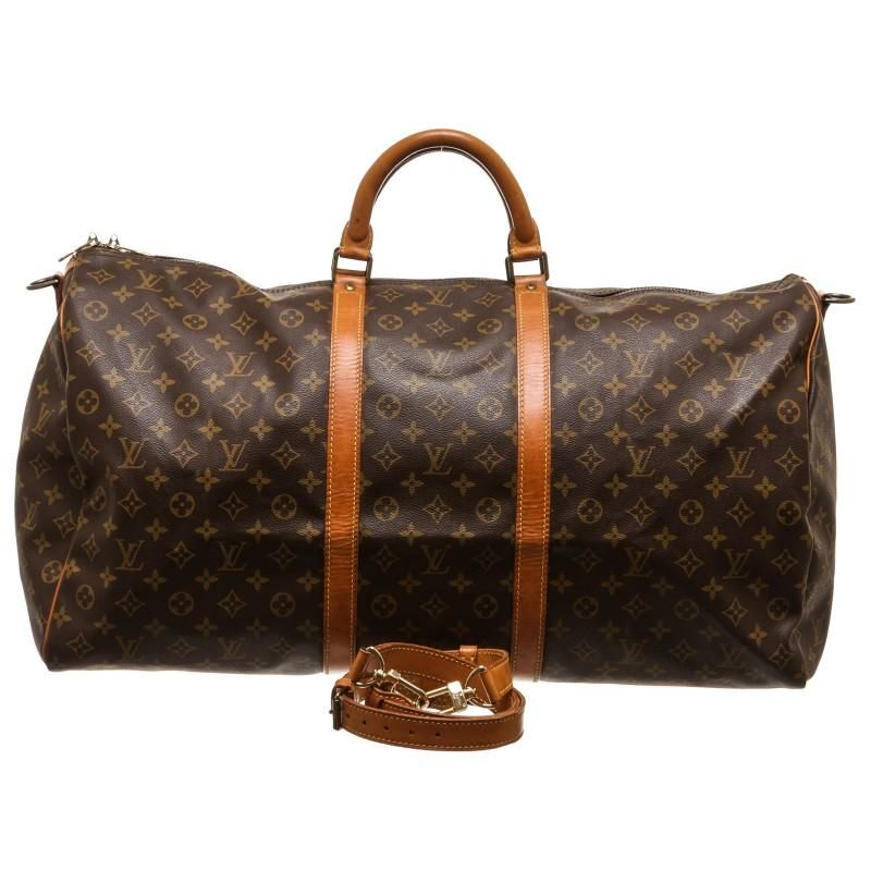 93c607f70eee Louis Vuitton Monogram Keepall Bandouliere 60cm Duffle