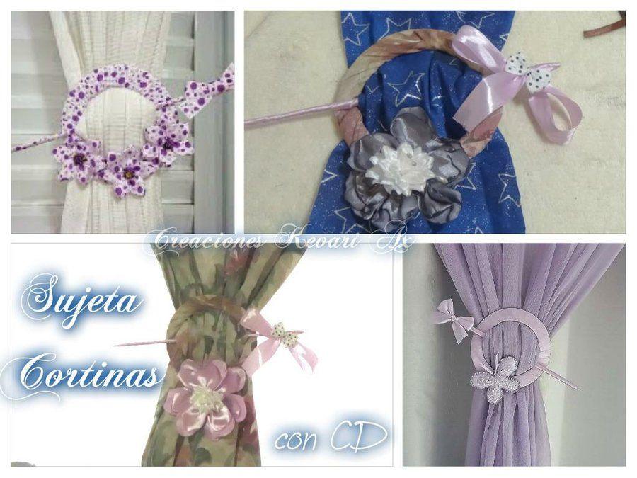 DIY decorativos: Sujeta las cortinas con CDs reciclados ...