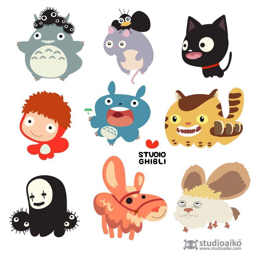 Some Of Character From Studio Ghibli I Love キャラクターデザイン かわいいイラスト