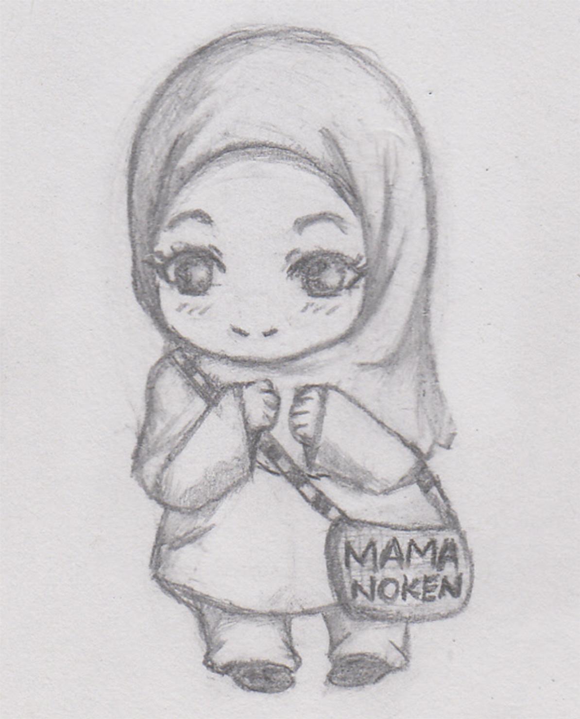 Cilikan Art chibi drawingpencil drawingsketch girl