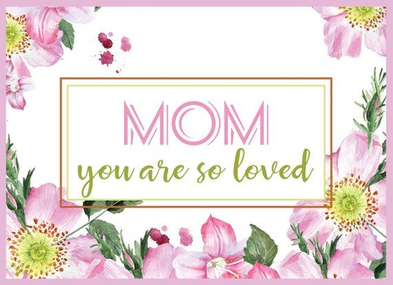 Mom Birthday Card PRINTABLE, Happy Birthday Mom Card ...