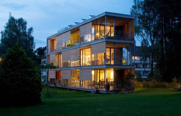 Mehrfamilienhaus in Liebefeld/Schweiz (Außenansicht) Architekten: Peter Schürch/Halle 58 Architekten, Bern Foto:Christine Blaser, Bern