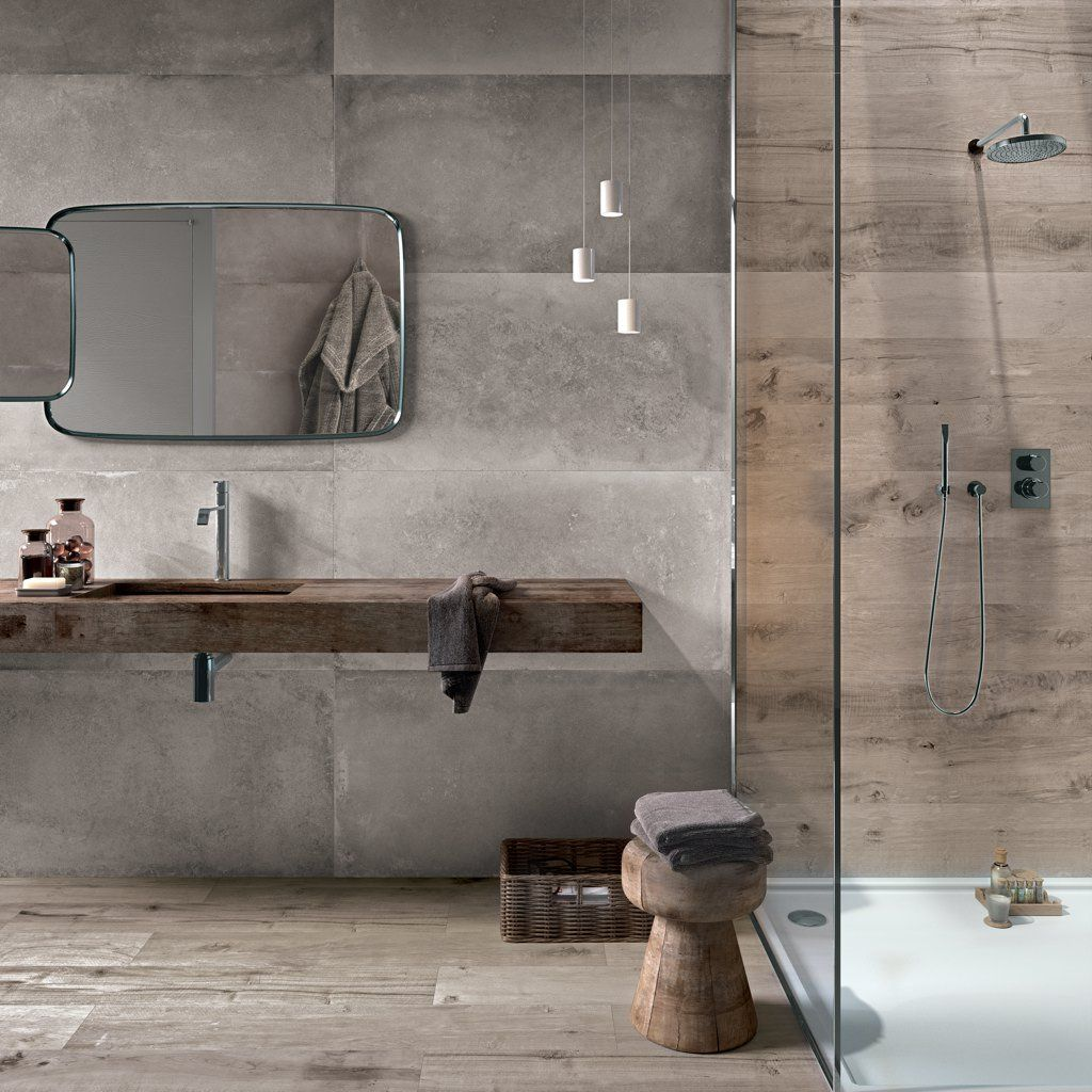 Bildergebnis Fur Badezimmer Beton Holzoptik Fliesen Betonoptik Italienisches Badezimmer Minimalistische Badgestaltung