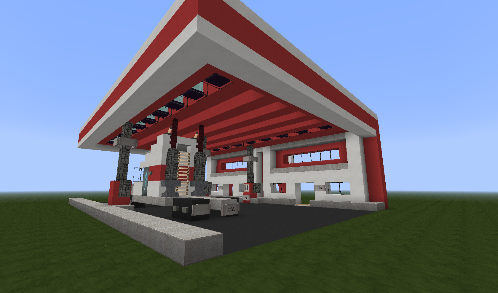 how to make a city building in minecraft