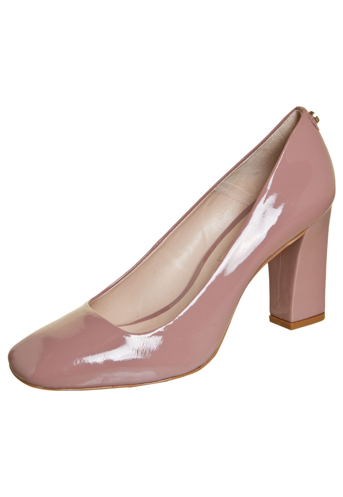 Sofisticata | Sapato Scarpin Bico Quadrado Salto Baixo