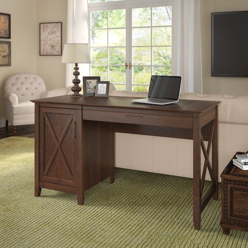 Bush Furniture Key West 54 In Computer Desk With Storage And