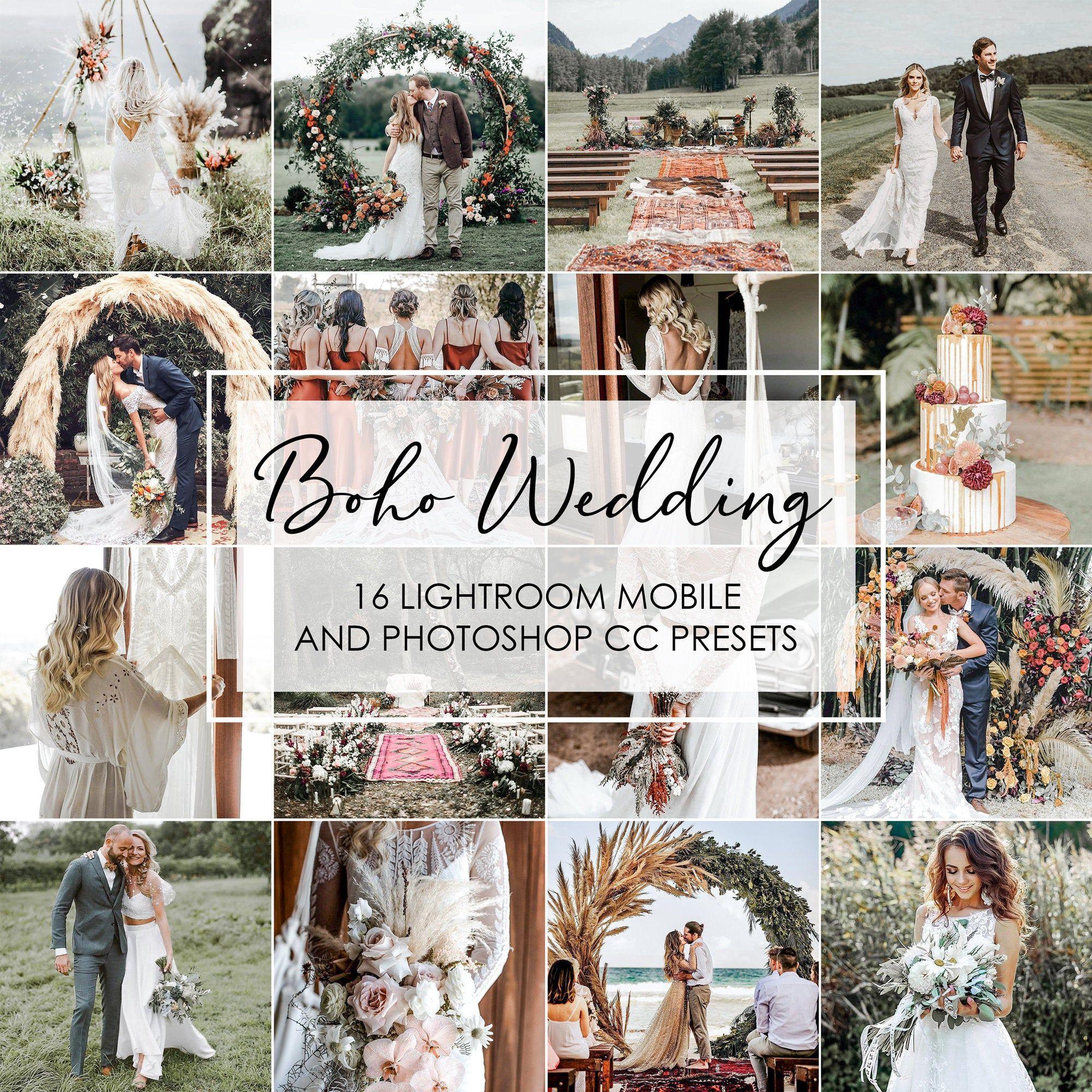 Wedding Presets 16 Presets Boho Wedding Lightroom Presets Etsy Wedding Presets Lightroom Lightroom Presets