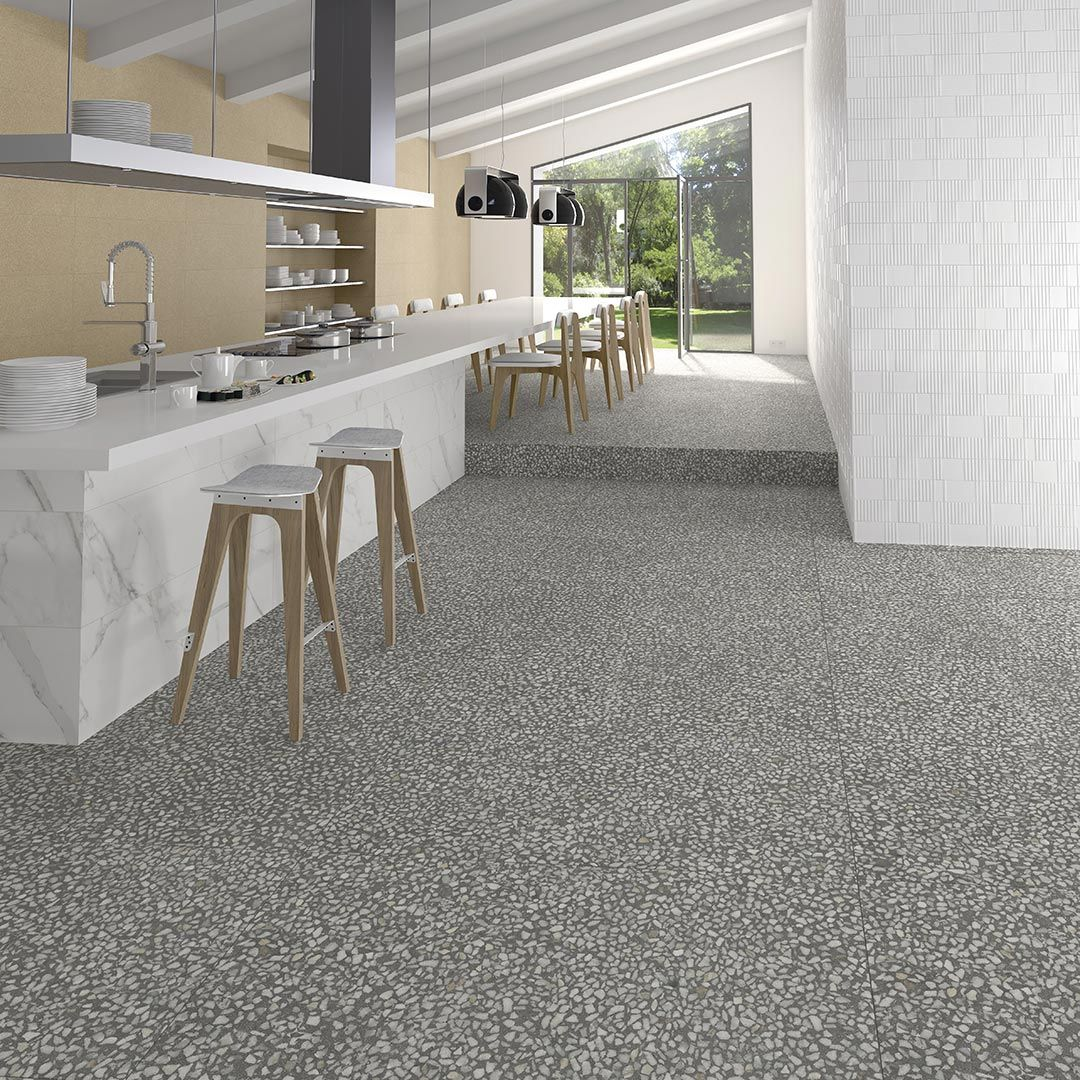 Floor Tiles Porcelain Terrazzo Effect Tiles Portofino 60x60 Vives Azulejos Y Gres Terrazzo Flooring Floor And Wall Tile