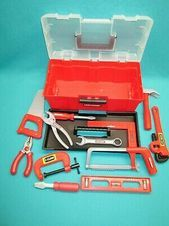 Advertisement - KIDS TOY TOOL BOX WITH TOOLS--CRAFTSMAN AND OTHERS--E-10  - Preschool Toys and Pretend Play. Toys and Hobbies -   #Advertisement #box #Hobbies #Kids #OTHERSE10 #play #preschool #pretend #tool #TOOLSCRAFTSMAN #Toy #toys