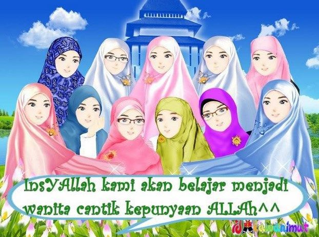 9100 Gambar Kartun Muslimah Bergerak Terbaru