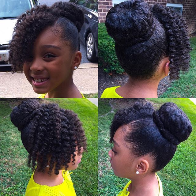 @crazysexymook | N A T U R A L K I D S | Pinterest | Buns, Curly bangs and Natural hairstyles