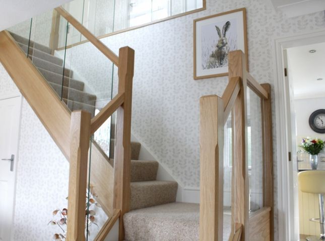 Best Staircase Renovation In Ewloe North Wales Glass 400 x 300
