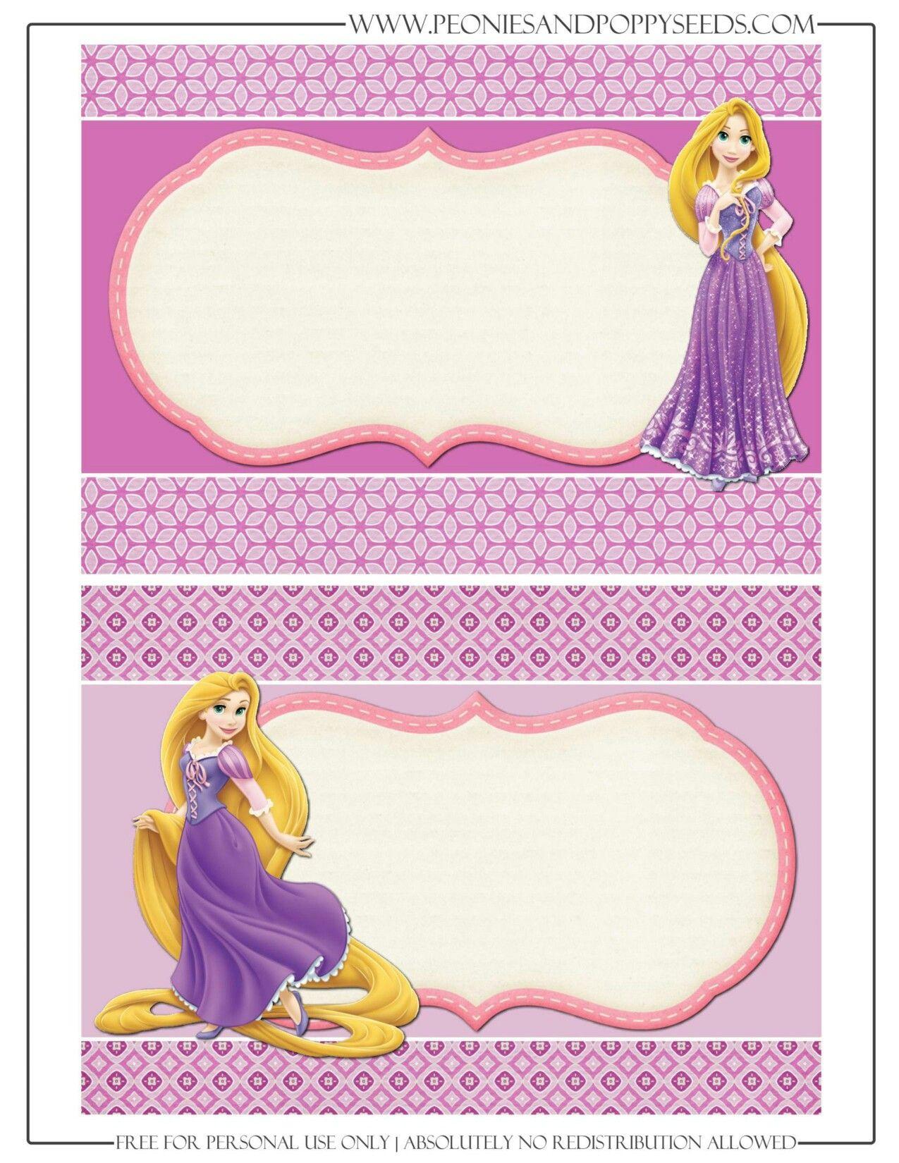 Invitación Rapunzel Invitaciones De Rapunzel Imprimibles