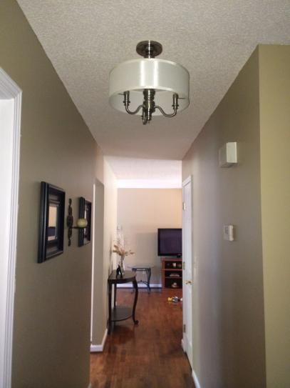 1624d66eb6d Hampton Bay Gala 3-Light Polished Nickel Semi-Flush Mount Light 14698 at  The Home Depot - Mobile