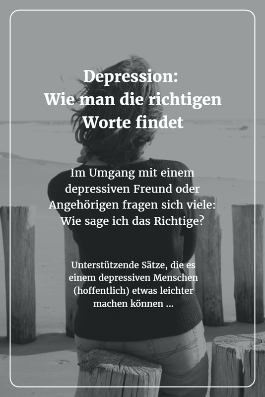 richtiger umgang mit depressiven menschen