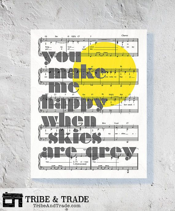 You Make Me Happy : Wood Wall Art Print - You Are My Sunshine Song ...