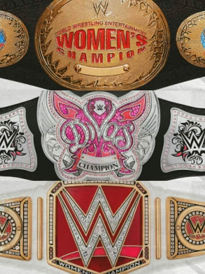 c22bd61ad The past to current women's championship belts of WWE. | WWE ...
