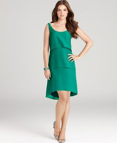 Ann Taylor Green Chiffon Tiered Scoop Neck Dress At015 Php 2 000 Size 10 Bust 37 In Sleeve 31 25 Waist 29 5 Oasis Teal