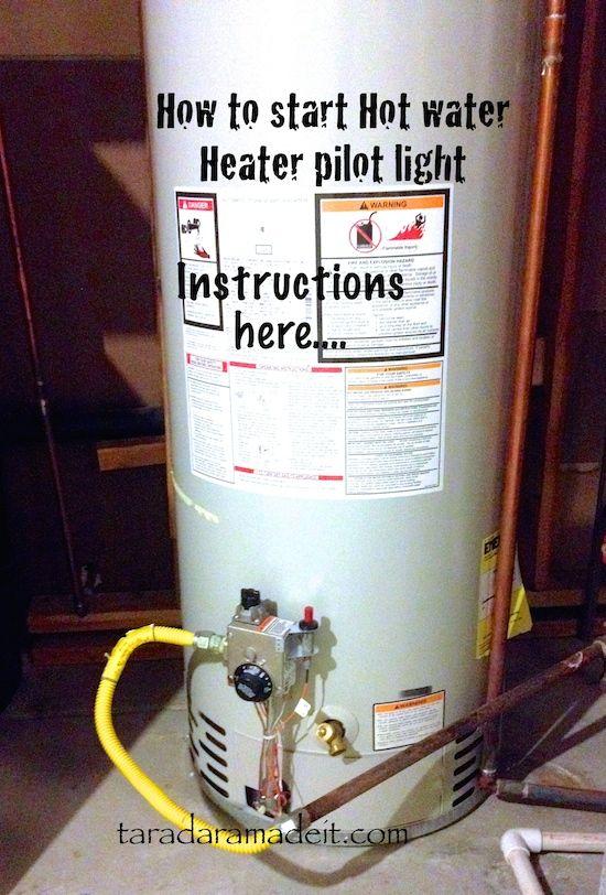 How To Start Hot Water Heater Pilot Light Water Heater Hot