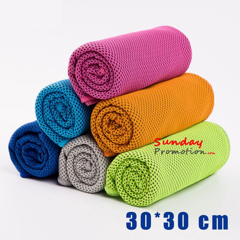 Custom Snap Cool Towel With Logo Print Wholesale Sports Cooling