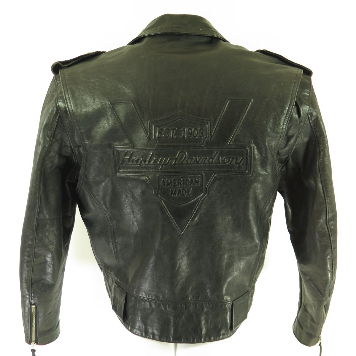 Details Made In United States By Harley Davidson Black Color Leather Material 2 Zip Chest P Leather Jacket Men Harley Davidson Leather Jackets Leather Jacket [ 1200 x 1200 Pixel ]