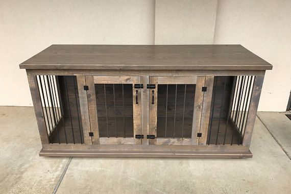 Beautifully Crafted Home For Your Pet This Double Kennel Table