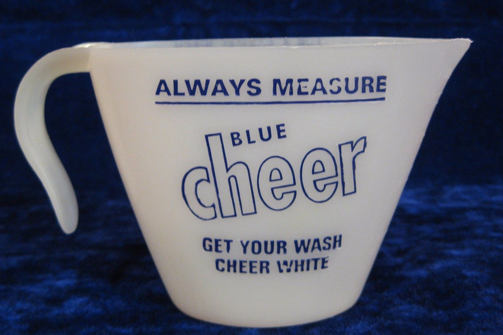 Vintage Blue Cheer Detergent Laundry Cup