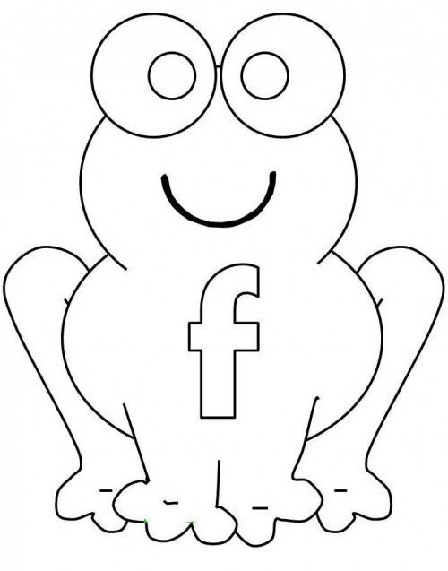 Letter F Which Is Present In The Stomach The Frog Coloring Page ...