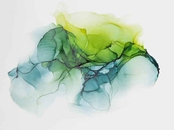 alcohol ink modern abstract in greenabstract painting modern art abstract art contemporary art is part of Ink painting - Alcohol Ink Modern Abstract in GreenAbstract Painting, Modern Art, Abstract Art, Contemporary Art Modernart Green