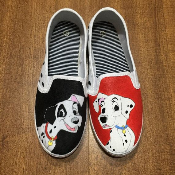 Hand Painted Disney Shoes - Vans - 101 Dalmatians