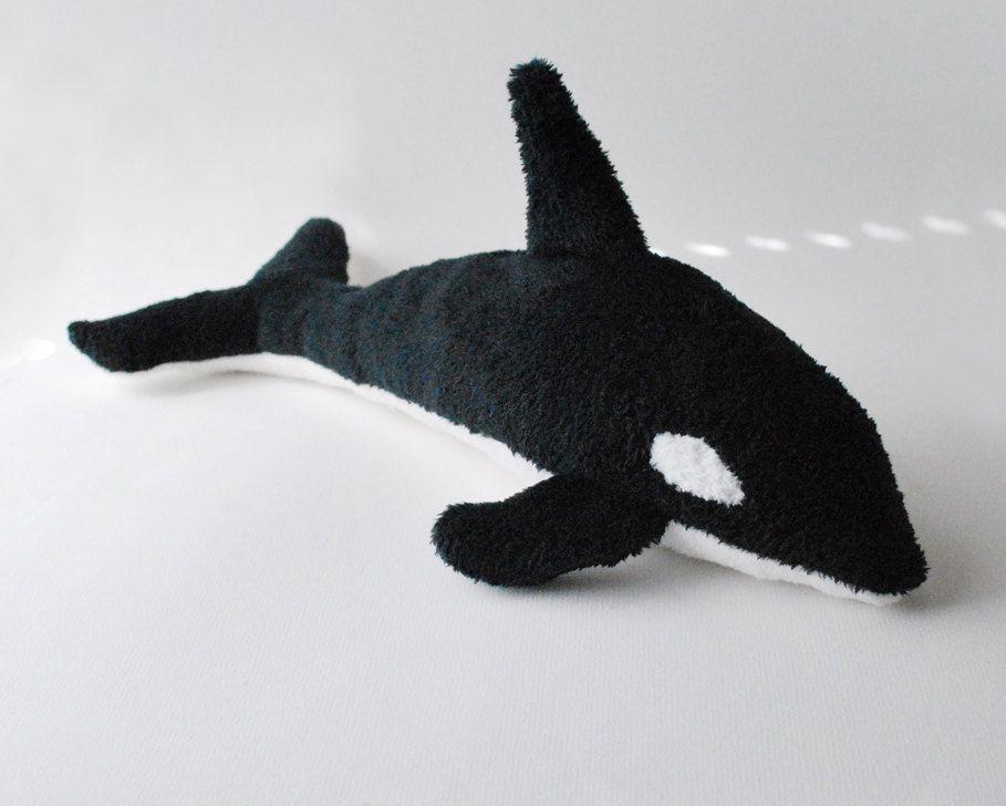 Whale Stuffed Animal Orca Plush Toy By Babycricket On Etsy Via Etsy