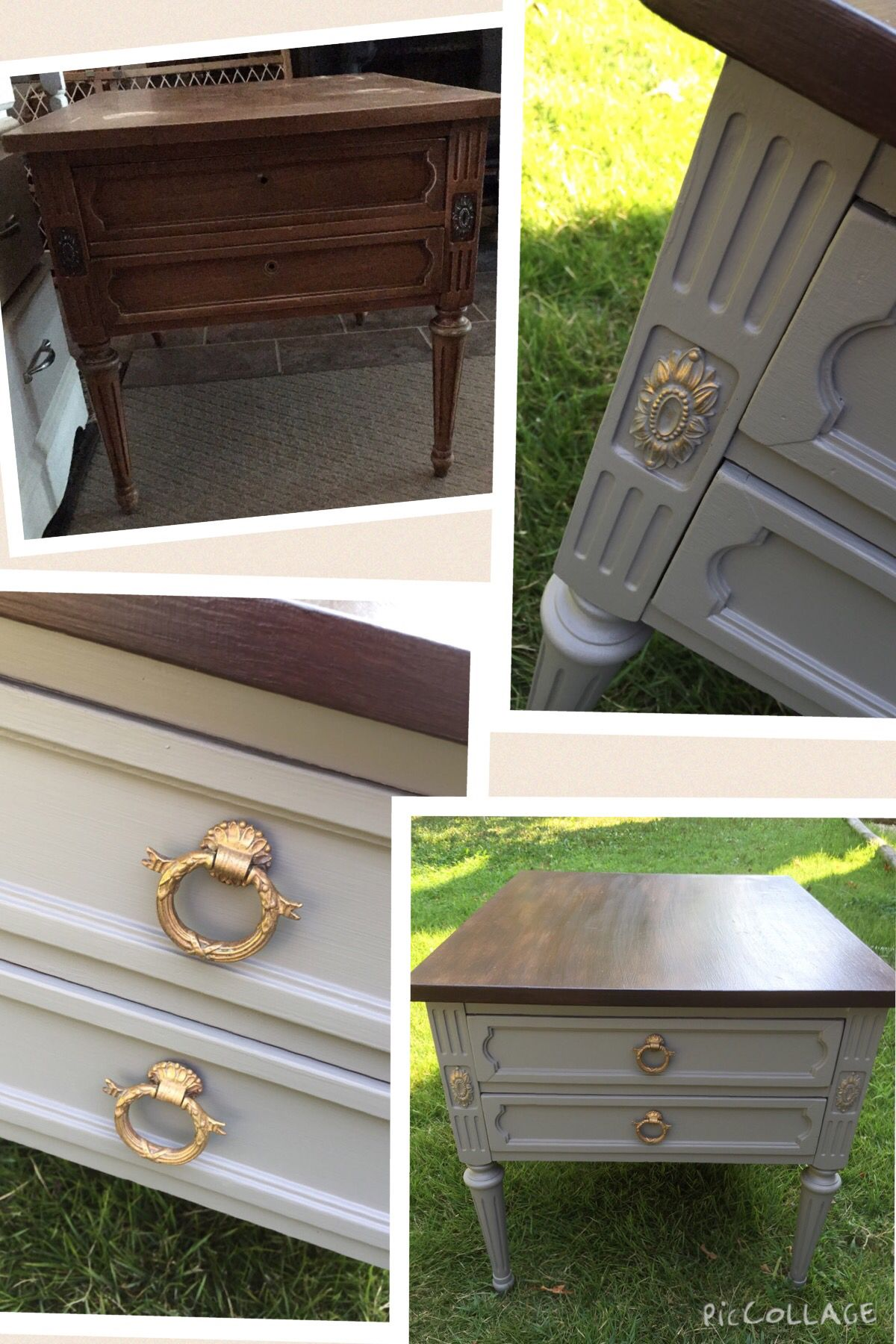 Before After Vintage Hammary End Table W Original Hardware My