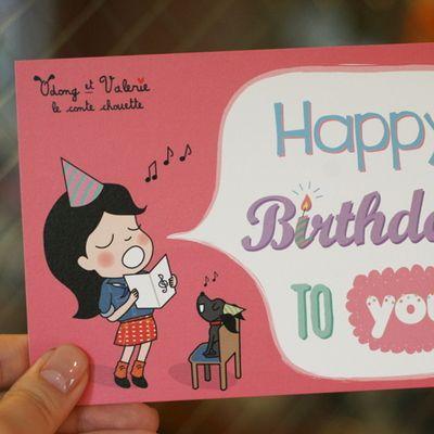 오동에발레리엽서_HAPPY BIRTHDAY TO YOU - 랑캣몰, 디자인문구, 편지/카드, 엽서, 디자인엽서