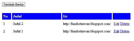 Aplikasi CRUD (Create Read Update Delete Data) menggunakan PHP dan MySQL   Fuad Indra Setiawan Blog