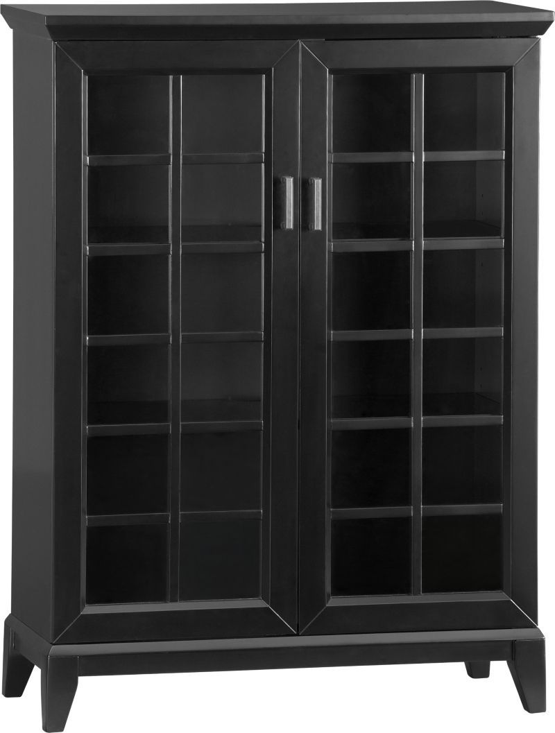 Black Media Cabinet With Glass Doors Httpbetdaffaires