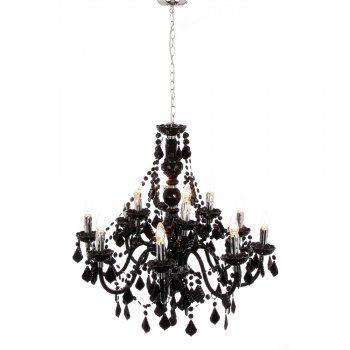 Le summum du lustre noir baroque chic 12 lampes