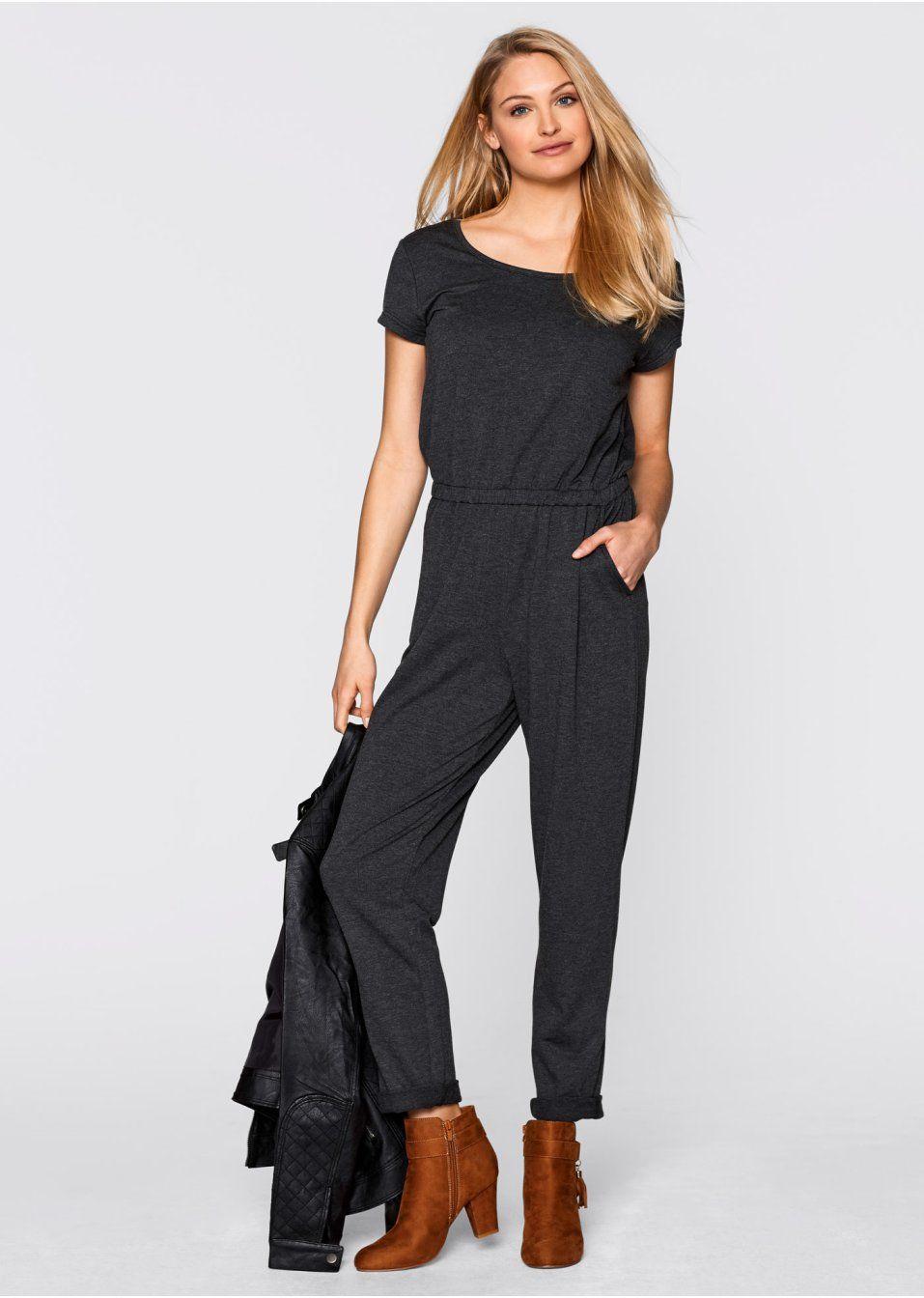 Džersejový jumpsuit S elastickým lemom • 19.99 € • bonprix