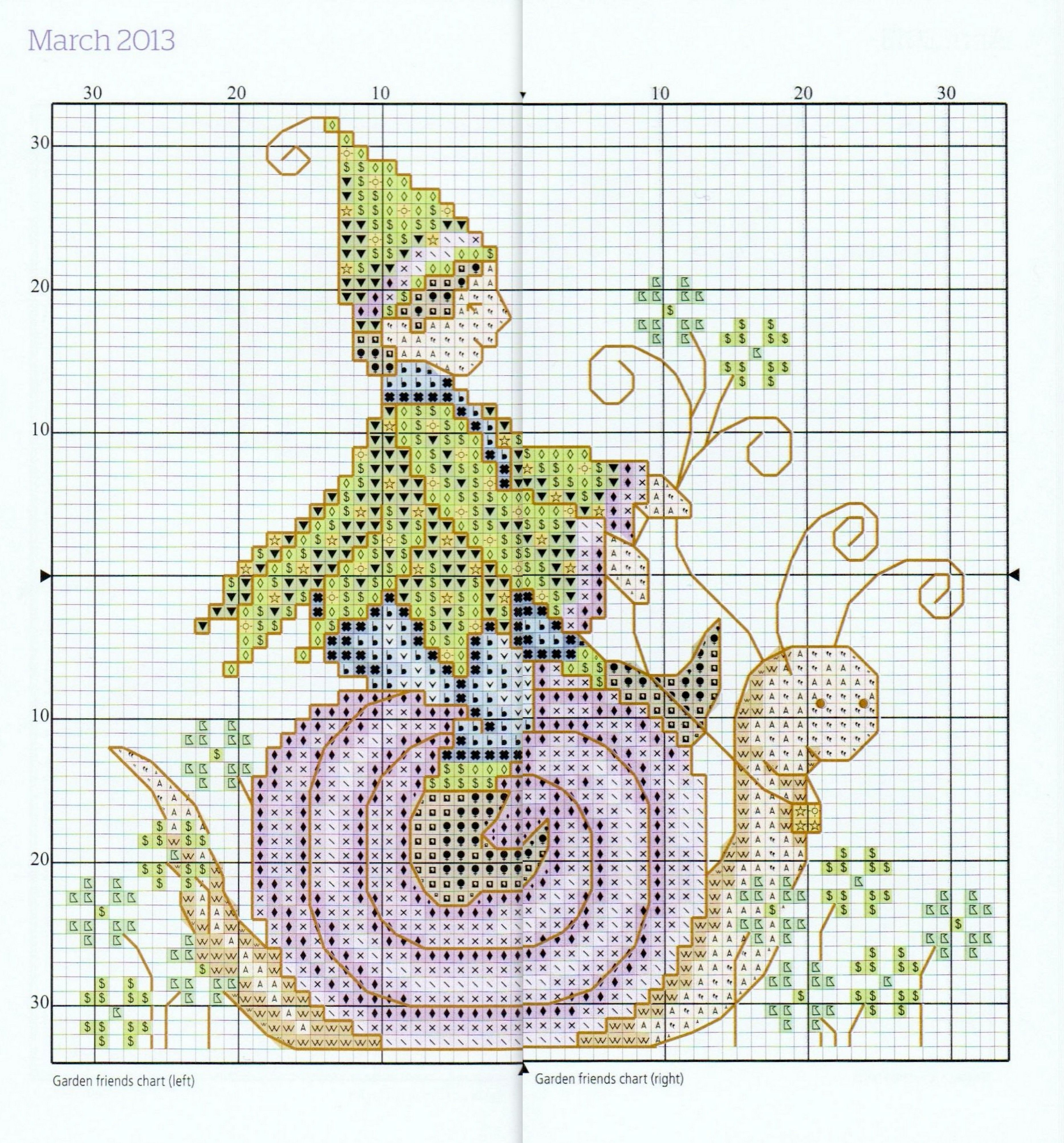 Garden friends chart march from joan elliotts 2013 stitchers garden friends chart march from joan elliotts 2013 stitchers diary madeira threadthe colourcrossstitchcross nvjuhfo Images