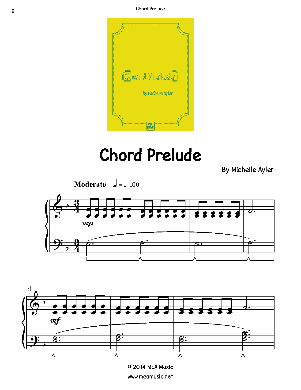 Chord Prelude Easy Piano Sheet Music