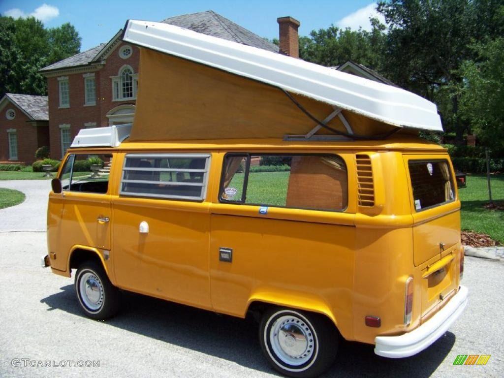 1977 chrome yellow volkswagen bus t2 camper van 32391803 photo